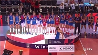The Serbian womens team won the European Volleyball League